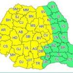 Meteorologii anunţă: Cod galben de furtuni cu ploi abundente