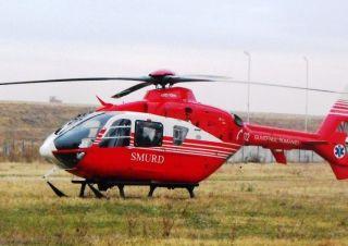 Bărbat accidentat pe câmp, la Cermei. A fost transportat la spital cu elicopterul