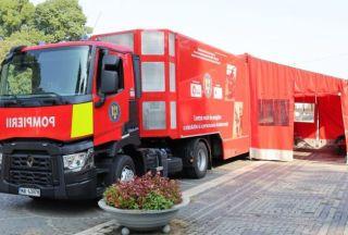 Caravană de instruire a populaţiei pentru a face faţă situaţiilor de urgenţă