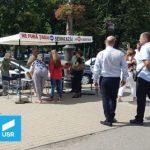 USR Arad continuă campania #fărăpenali, în fața magazinului Ziridava