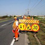 Reparații pe suprafețe întinse pe DN 7, în comuna Vladimirescu