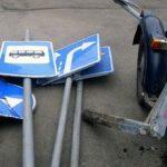 Tânăr din Arad, prins la furat de indicatoare rutiere