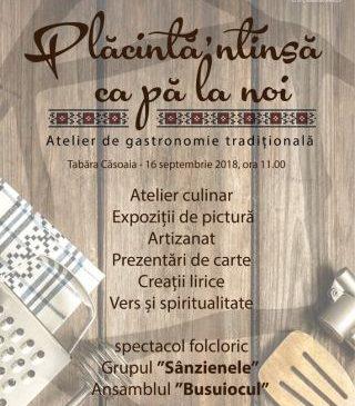 Atelier de gastronomie tradițională în Tabăra Căsoaia