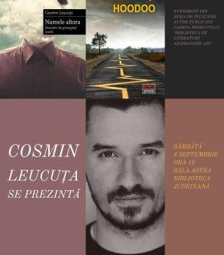 """Întâlniri autor-public la Biblioteca Județeană. """"Cosmin Leucuța se prezintă"""""""