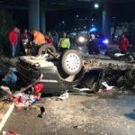 UPDATE 3 Accident pe pasajul Micălaca. Doi tineri au murit, iar alţi doi sunt răniţi