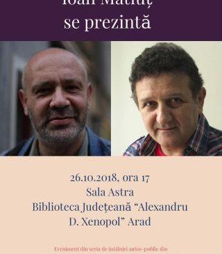Întâlniri autor-public, la Biblioteca Județeană. Romulus Bucur și Ioan Matiuț se prezintă