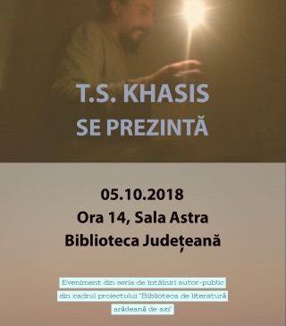 """Întâlniri autor-public la Biblioteca Județeană. """"T.S. Khasis se prezintă"""""""
