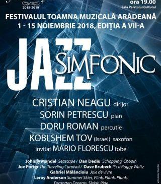 Toamna Muzicală Arădeană. Jazz simfonic la Filarmonica de Stat Arad
