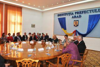 Întâlnirea prefecților postdecembriști, la Prefectura Arad