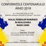 Conferințele Centenarului, la final. Invitată – conf.univ.dr. Simona Stiger