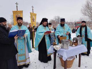 Procesiune la râul Mureș în ziua de Bobotează
