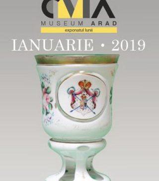 Exponatul lunii ianuarie, la Muzeu. Cupa cu stema pricipatelor unite