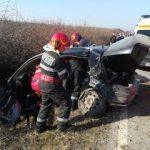 UPDATE Un mort și doi răniți într-un accident, la ieșirea din Bârsa