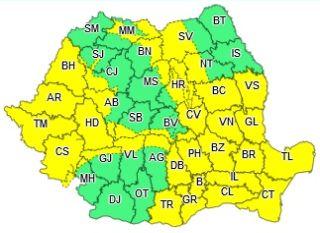 Cod galben de vânt puternic pentru județul Arad