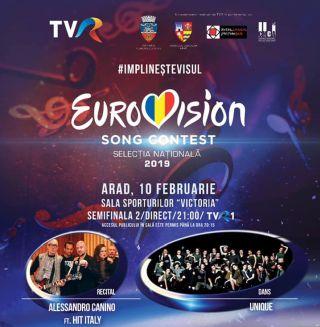 A doua semifinală a Eurovision România, la Arad. VEZI melodiile din concurs