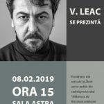 """Poetul Vasile  Leac se prezintă la Biblioteca Județeană """"Alexandru D. Xenopol"""""""