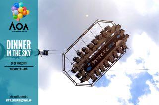 Cină la 50 de metri înălțime, la Arad Open Air Festival