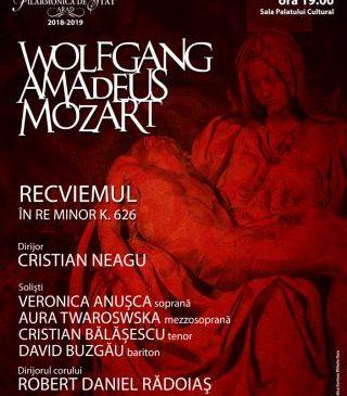 Recviemul în re minor de Mozart, la Filarmonica de Stat Arad