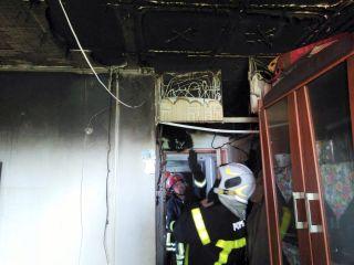 Incendiu într-o garsonieră din cartierul Aurel Vlaicu