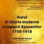 """Istoricul Iosif Marin Balog va conferenția la Biblioteca Județeană """"A.D. Xenopol"""""""