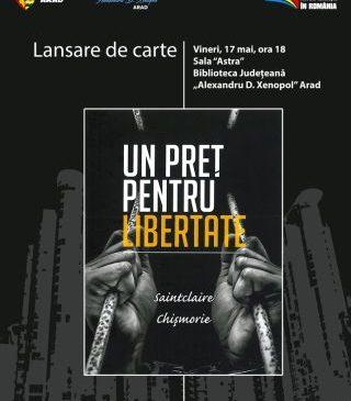 """Lansare de carte la Biblioteca Județeană. """"Un preț pentru libertate"""""""