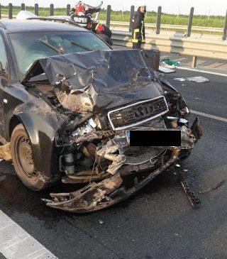 Accident pe autostrada Arad – Timișoara. Șapte persoane, transportate la spital