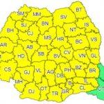 Cod galben de averse torenţiale, vijelii şi grindină în toată ţara