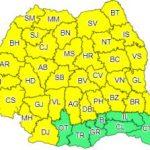 Avertizare meteo. Cod galben de furtuni în județul Arad