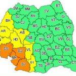 Avertizare meteo. Cod galben de ploi torenţiale în județul Arad