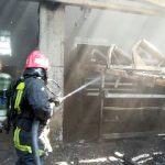 Incendiu la CET Arad. Au intervenit pompierii