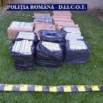 Opt bărbaţi reţinuţi în urma percheziţiilor la contrabandişti de ţigări