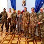 Delegație militară româno-americană, la Prefectura Arad