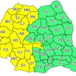 Cod galben de instabilitate atmosferică pentru județul Arad