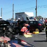 UPDATE Accident în municipiul Arad. Trei persoane au fost preluate de medici