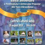 Festivalul Cântecului Popular din Ţara Zărandului, la Sebiş