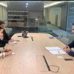Gheorghe Falcă s-a întâlnit cu ambasadorul României la Uniunea Europeană