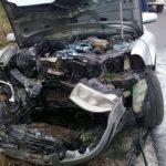 O mașină a luat foc între Zimandu Nou și Sântana. Incendiul a fost stins de un echipaj SMURD