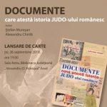 """Lansare de carte la Biblioteca Județeană: """"Documente care atestă istoria judo-ului românesc"""""""