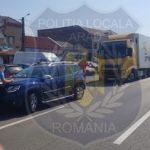 Amenzi aplicate de polițiștii locali pentru traficul greu din municipiul Arad