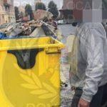 Arădean amendat pentru deșeurile aruncate la container
