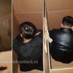 Migranţi ascunşi în cutii de carton, depistați la PTF Nădlac II