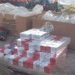 Jandarmii la piață. Au găsit țigări de contrabandă într-o ladă cu banane