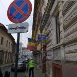 Oprirea interzisă pe strada Unirii. Mașinile parcate au fost ridicate