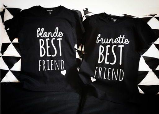 Tricouri pentru BFF creativi și nonconformiști?