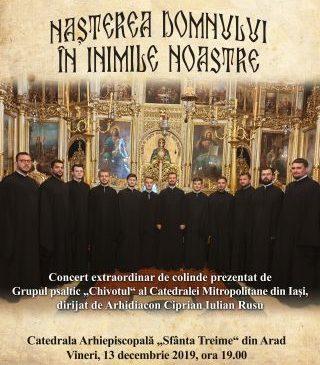 """""""Nașterea Domnului în inimile noastre"""". Concert de colinde la Catedrala Arhiepiscopală """"Sfânta Treime"""" din Arad"""