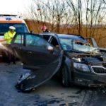 Accident pe DN 7, în județul Arad. Un bărbat și o femeie au fost răniți