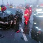 Accident pe Calea Zimandului. Un bărbat a fost rănit