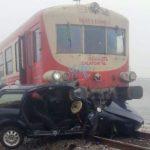 Mașină lovită de tren, în Aradul Nou. Polițiștii au întocmit un dosar penal