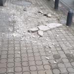 Incident pe strada Horia. A căzut tencuiala de pe o clădire