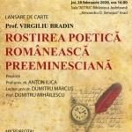 """Lansare de carte la Biblioteca Județeană: """"Rostirea poetică românească preeminesciană – inovații stilistice și lexicale"""""""